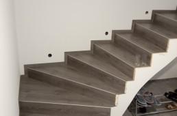 Stopnišče iz vinila - temno sivo