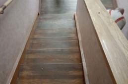 Terme Ptuj - leseno stopnišče pred obnovo